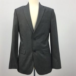 Calvin Klein Grey Polyester Single Breast Blazer
